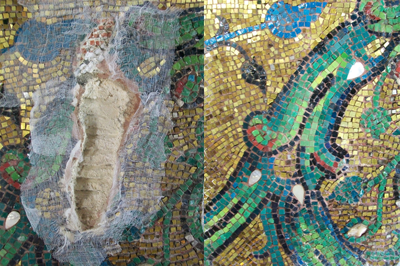 Renovation of the mosaics