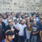 Large numbers of Jewish extremists are allowed to enter Al-Aqsa Mosque / Al-Haram Al-Sharif and pray under the protection of Israeli police officers.