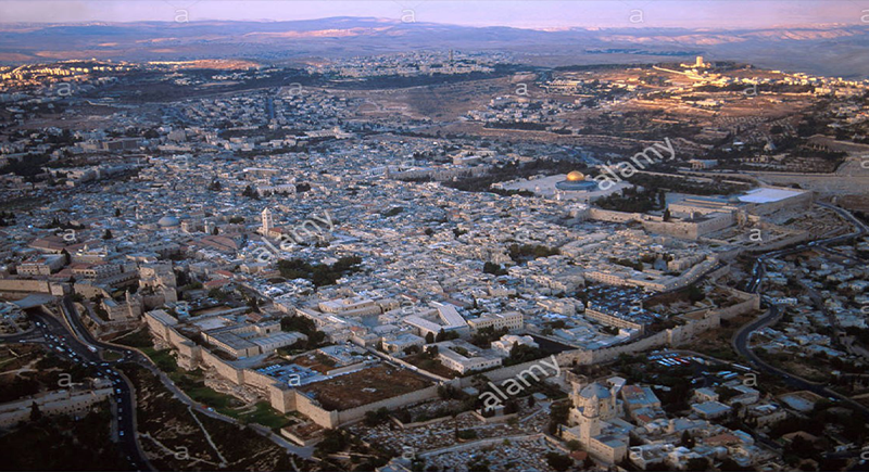 The Old City of Jerusalem and its walls: registered as a World Heritage Site 1981 has been in danger since 1982 (site proposed by Jordan)