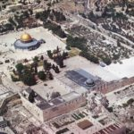 Al-Aqsa Mosque / Haram Al-Sharif is shown in the photo below with its area size of 144 dunums