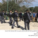 Increased Police personnel protect ever larger groups of extremist intruders into Al-Aqsa Mosque