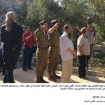 Israeli soldiers perform military salute while Jewish extremist settlers pray inside Al-Aqsa Mosque