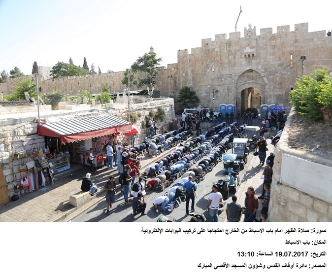Palestinian worshipers banned access to Al-Aqsa Mosque/Al-Haram Al-Sharif July 14-28 2017