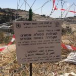 """The 2016-2017 closure of Bab Al-Rahmah Cemetery through the use of insulting signs: """"No throwing garbage; no burying the dead here."""""""