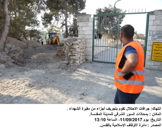Bab Al-Rahmah and Al-Yusfiyeh Cemetery have suffered brutal land bulldozing, filling of graves with concrete, and land confiscation, 2017-2019